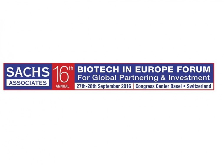 GeneQuine's CEO Kilian Guse to Discuss Advances in Cell and Gene Therapy in Panel Discussion at the Sachs 16th Annual Biotech in Europe Forum, 27  - 28 September 2016, Basel